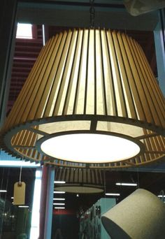 #OnlyCosasLindasInc Conic wooden lamp with white rice  paper shade