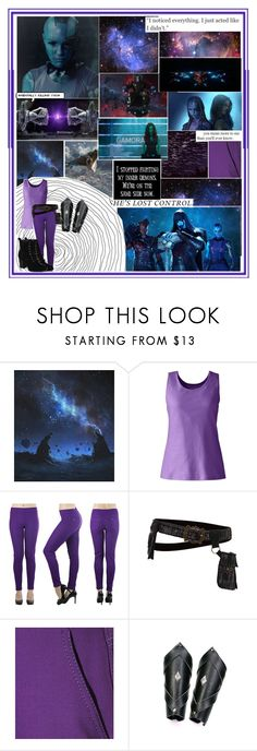 """""""Nebula - Guardians Of The Galaxy"""" by demolition-vampire ❤ liked on Polyvore featuring ...Lost, Marvel, Børn, Lands' End, Miu Miu and Journee Collection"""
