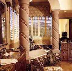Tuscan Bath Design: Tuscan Bathroom