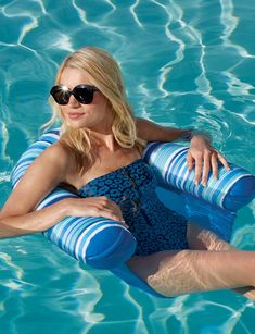 Designed for comfortably sitting in the water, our Lazy Day Pool Seat has a supportive back rest filled with soft, buoyant beads and a double-sided mesh fabric seat. It features a built-in handle for easy transport or removal and, so your favorite drink is close at hand, an integrated cupholder.