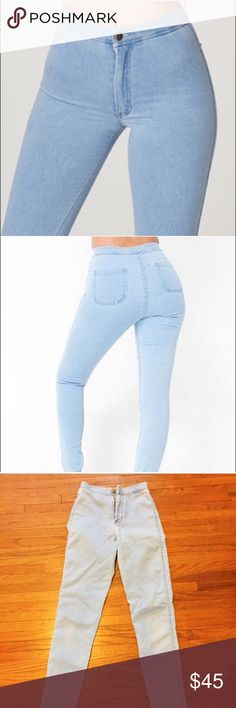 American Apparel Easy Jeans NWOT, never worn American Apparel easy jeans, size XS light blue color. Selling because I got the wrong size. American Apparel Jeans Skinny