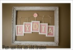 It's Written on the Wall: picture frames: Use Them In So Many Ways as Decor