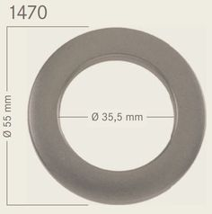 """""""KLIK""""zeilring Titaan 55 mm"""