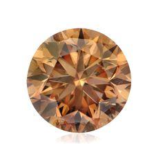 1.45 CT Natural Round Brilliant Cut Light Brown Color Loose Diamond