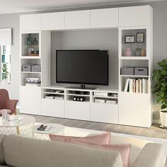 Living Room Wall Units, Living Room Tv Unit Designs, Ikea Living Room, Ikea Tv Wall Unit, Living Rooms, Tv Wanddekor, Tv Wall Decor, Tv Wall Design, Tv Cabinet Design