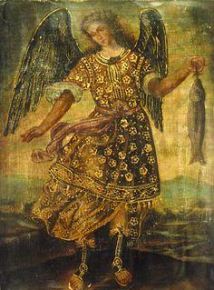 RARE Cuzco Oil Painting Peru Folk Art 11x15 Archangel | eBay
