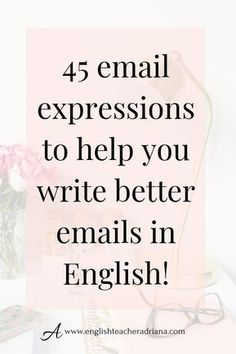 Write better emails in English by using these 45 useful email expressions. Click the link below to watch the full video lesson