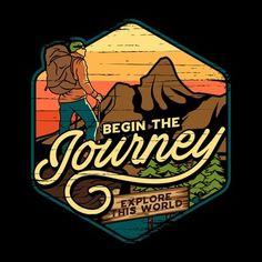 Typo Logo Design, Graphic Design Quotes, Forest Illustration, Travel Illustration, Cut Shirt Designs, Outdoor Logos, Cartoon Logo, Travel Logo, Nature Prints