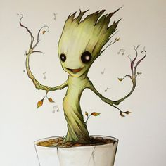 Drawing baby Groot Get your own animation here: https://www.fiverr.com/inf0kid/create-animated-presentations-for-your-project