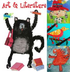 Art & Literature Unit from Deep Space Sparkle. Features wonderful art lessons tied with wonderful picture books, including Splat the Cat