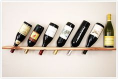 Easy Woodworking Projects - Wood Plank Wine Rack - Cool DIY Wood Projects for Beginners - Easy Project Ideas and Plans for Homemade Gifts and Decor Cool Diy, Easy Diy, Simple Diy, Clever Diy, Wine Shelves, Wine Storage, Storage Ideas, Storage Racks, Storage Solutions