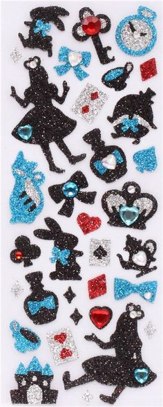 cute Alice in Wonderland stickers from Japan Crux