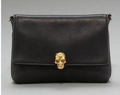 Alexander McQueen leather skull clutch