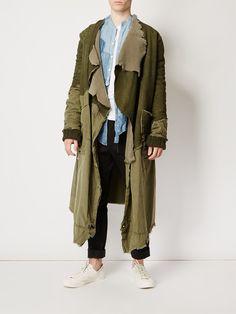 Greg Lauren пальто с панельным дизайном в стиле милитари