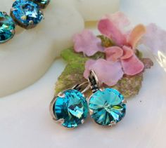 Gorgeous blue crystal earrings.