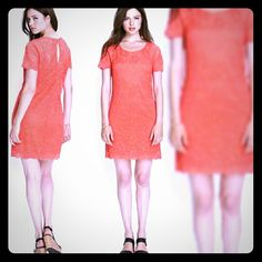 Forever 21 Coral Lace Dress In Great condition. Just wore once Forever 21 Dresses