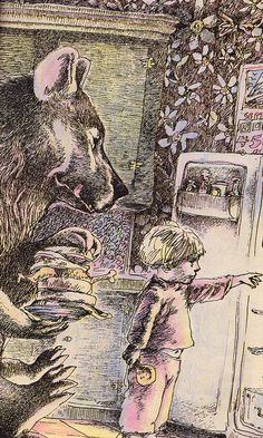 """""""The Bear's Toothache"""" written & illustrated David McPhail (1972)"""