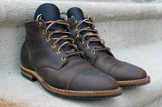 The Best Men's Shoes And Footwear : Viberg Service Boots -Read More – Fashion Moda, Fashion Shoes, Mens Fashion, Best Shoes For Men, Men S Shoes, Viberg Boots, Men Dress, Dress Shoes, Cool Boots
