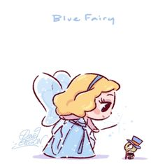 The Blue Fairy and Jiminy Cricket