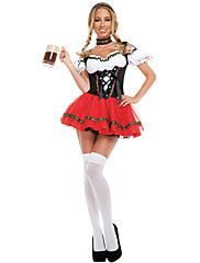 Oktoberfest/Beer+Cosplay+Costumes+Female+Festival/Holiday+Halloween+Costumes+Halloween+Oktoberfest+Solid+Color+–+CAD+$+36.91