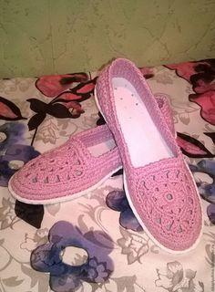 Купить Розовый рассвет - обувь ручной работы, обувь на заказ, летняя обувь, обувь из хлопка