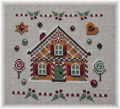 Cross Stitch Boarders, Cross Stitch House, Cross Stitch Designs, Cross Stitching, Cross Stitch Embroidery, Embroidery Patterns, Cross Stitch Patterns, Christmas Embroidery, Afghan Crochet Patterns