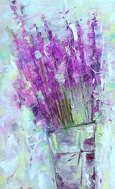 lavender Art Print by positivepainting on Etsy, $20.00