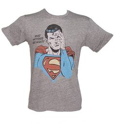 6141a183b Men's Grey Triblend What Happened Last Night? #Superman T-Shirt from Junk  Food