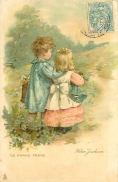 1907, France Images Vintage, Vintage Pictures, Vintage Children's Books, Vintage Ephemera, Vintage Labels, Illustrations Vintage, Illustration Art, Vintage Greeting Cards, Pics Art
