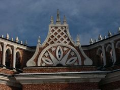 Insignia on the First Cavarly Corps building in Tsaritsyno Park and Estate. By Moscow Russia Insider's Guide.