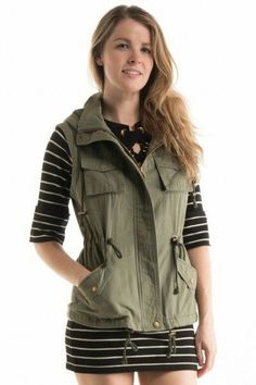 Cargo vest with hood. So Soft, comfy and stylish!  100% Cotton   Fits True To Size | Shop this product here: http://spreesy.com/clarbelles/90 | Shop all of our products at http://spreesy.com/clarbelles    | Pinterest selling powered by Spreesy.com