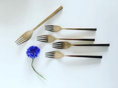 These forks are design by Sigvard Benadotte - the Queen of Denmark's uncle!