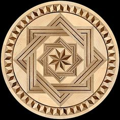 The 8 RAYS DF I Round. A medallion with a geometric design in the middle surrounded by a geometric shape frame compatible with a border inlay. http://www.pavexparquet.com/hardwood-floor-medallion-inlays-geometrica.htm