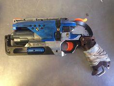 Etsy の Blue Steampunk Nerf Gun Zombie Strike by ZeeLilyClockwerks