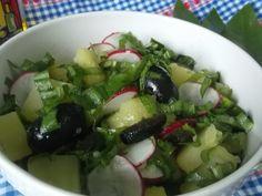 Hellena  ...din bucataria mea...: Salata de cartofi cu leurda - de post