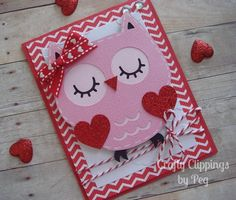 Owl valentines card