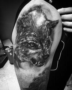 Lobo, wolf, realismo, tattoo, tatuaje, wolverine