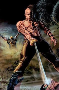 Daken vs X-Men by Doug Braithwaite