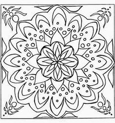 coloring page Mandala on Kids-n-Fun. Coloring pages of Mandala on Kids-n-Fun. More than coloring pages. At Kids-n-Fun you will always find the nicest coloring pages first! Abstract Coloring Pages, Mandala Coloring Pages, Coloring Book Pages, Printable Coloring Pages, Mandala Art, Flower Mandala, Easy Mandala, Mandala Pattern, Embroidery Patterns Free