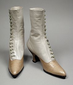 Kid leather high-button boots by Laird, Schober & Co., American, c. 1915.