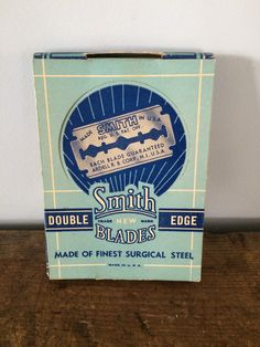Vintage Advertising Smith Double Edge Finest Surgical Steel Blades Box Full of Unopened Blades, Original Advertisement, General Store Item by eddysmercantile on Etsy
