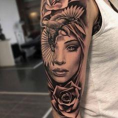 tatuajes de rostros de mujeres ideas