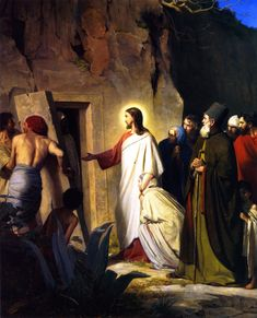 Jesus Raises Lazarus from the Dead // 1871 // Carl Heinrich Bloch // Frederiksborg Slot