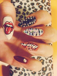 Rock on nails