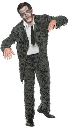 Smart Undead Adult Costume One Size. Hand Picked range of Spooky & Horror Costumes for Halloween at CostumePub. Gothic Halloween Costumes, Halloween Costume Puns, Scary Costumes, Halloween Town, Baby Halloween, Adult Costumes, Cosplay Costumes, Halloween Balloons, Horror Costume
