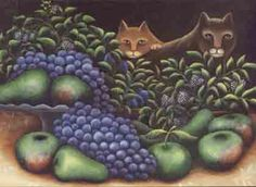 Cats and Fruit by Jerzy Marek