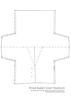 Peter Rabbit coat template resized to fit A4. Click for full sized document.