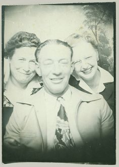 Three in a photobooth | Flickr - Photo Sharing!