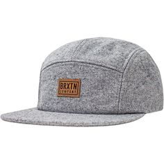 cf7254cdefbb9 Brixton Quint 5-Panel Cap (125 BRL) ❤ liked on Polyvore featuring  accessories