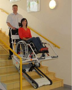 The only stairclimber worldwide that allows transporting all types of wheelchairs, including electrical wheelchairs  The stairclimber Public is the world's only portable inclined platform lift. The unique platform design will accommodate all types of wheelchairs including power, child sports, and conventional adult wheelchairs.